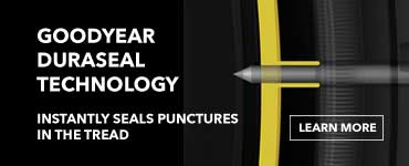 Goodyear Duraseal Technology. Instantly seals punctures in the tread